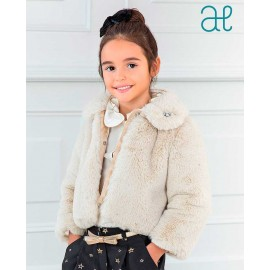 Abel & Lula Winter Girl Hair Coat Beige
