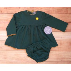 Mon Petit Bonbon Winter Baby Girl Green Set with Star