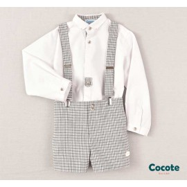 Cocote Winter Boy Set White and Squared Pants