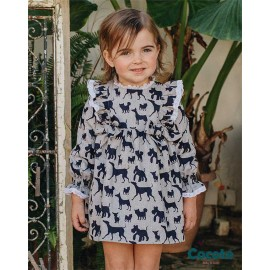 Cocote Winter Baby Girl Dress Dogs