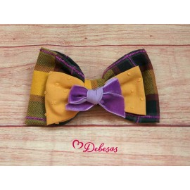 Debesos Winter Girl Pin Squared and Ocher Ties